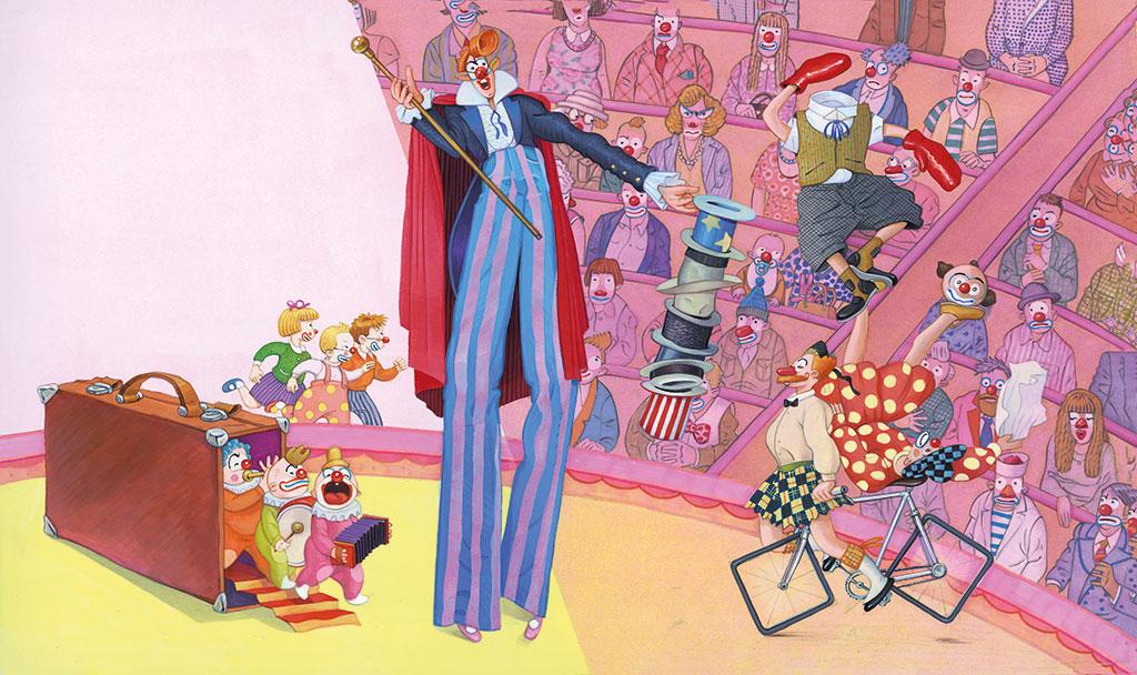 Where is the clown?