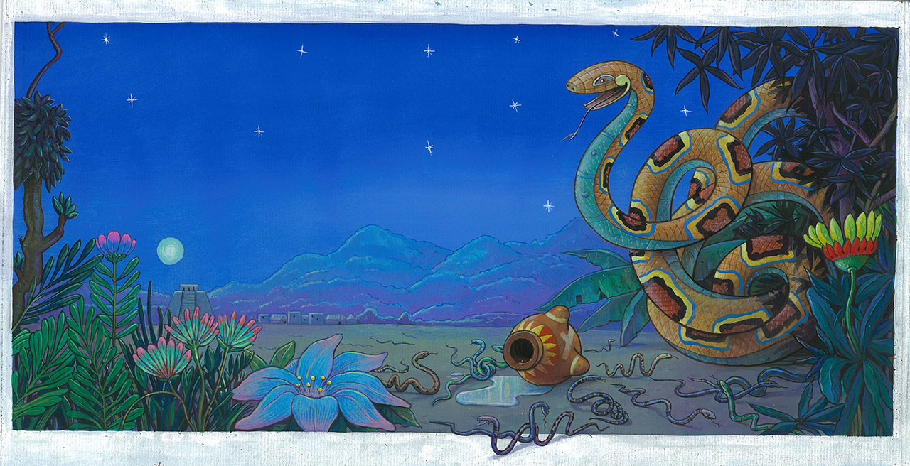 L'indien, le serpent et la nuit